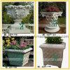 Jardim de pedra Flowerpot Granite Marble Planter à mão Carved (YKFP-31)