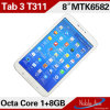 PC Midcore 3G Smart Pad Android 4.2 Tablet PC платы 3 T311 Hot Selling 8inch HD IPS Mtk6582 Quad Core 3G Smart Pad Android 4.2 Tablet СРЕДНИЙ