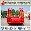 2-assen van Ctsm Banden behandelden Rode Semi Aanhangwagen Lowbed met Helling