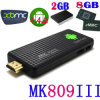 PC del androide 4.4 del palillo del Dongle de 2g/8g Mk809III TV mini