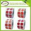 Personalizada de la Ronda Polka etiqueta adhesiva de color Codificación Label