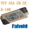 el transformador externo de 8~18W LED para el LED abajo se enciende