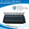 Del quadrato multi SIM SMS GSM modem in serie della fascia 16, raggruppamento 16 Port, modem Port del modem del USB del cambiamento di IMEI del modulo 16 liberi di SMS Quectel Gc65