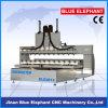 Multi Head 4 Axis CNC Machine, CNC Router Machine mit Rotary für Sale