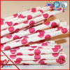 Red de lujo DOT Paper Drinking Straws en Box o Bags