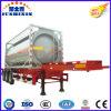 20FT 3 Wellen-Rohöl-/Diesel-/Treibstoff-Becken-halb Schlussteil-Becken-Behälter