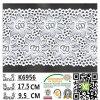 Tissu élastique teint en gros chinois K6956 de lacet