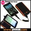 휴대용 태양 Charger+6000mAh 이동할 수 있는 힘 Bank+Dual USB 산출