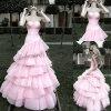 美しいピンクの結婚式の&Promの服(SD008)