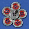 botones naturales Polished de la tuerca del corozo de la alta calidad de 36L 4-Holes, para el juego que cose, accesorios de la ropa