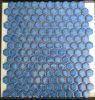 青い六角形の陶磁器のモザイク・タイル