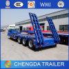 굴착기에 사용되는 60 톤 낮은 침대 트레일러