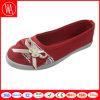 Ботинки плоского комфорта женщин вскользь с Bowknot шнурка