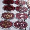 호텔 Signage 문 격판덮개 객실 번호 Signage