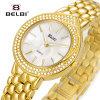 De Vrouwen van Belbi letten op het Horloge van de Diamant van de Armband van het Roestvrij staal van de Juwelen van de Manier