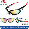 Frame cheio tom polarizado de Wtth dois dos óculos de sol do esporte do revestimento de espelho