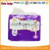 Tecido descartável do bebê do OEM com absorção elevada da boa qualidade