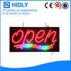 Empfindliches LED geöffnetes Zeichen des Hidly Vierecks-