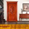 Porte en bois d'entrée découpée par luxe pour la villa (GSP2-020)
