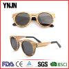Óculos de sol ajustáveis da madeira da dobradiça da mola de Ynjn