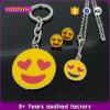 Trousseau de clés en alliage de zinc en gros de charme d'Emoji de mode de trousseau de clés de constructeur