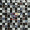 金Leaf GlassおよびCracked Ceramic Mixed Mosaic Tiles (CST077)