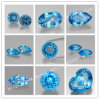 Blue Topaz Natural Gemston의 각종 Shape 그리고 Size