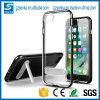 Transparente TPU unterstützen Fall mit Metall Kickstand für iPhone 6s