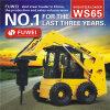 Dumper затяжелителя кормила скида затяжелителя Ws65 колеса гидровлической системы Fuwei миниый с Rops Fops Ce