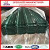 Material para techos de acero galvanizado acanalado del color