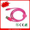10 synchro Charger Cable de Colorful 1m 3 Feet Fabric Braided USB Data de couleurs