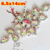 Sew al por mayor en Rhinestone Applique Patches Bling Bling Flower Crystal Applique /Iron en Applique Embellishment