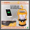 Солнечный свет 15 СИД с 1W электрофонарем, USB (SH-1972C)