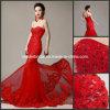 Vestidos de casamento nupciais H131009 do espartilho vermelho da sereia do laço do vestido de casamento