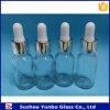 5% van 15ml de Duidelijke Fles van het Glas met het Zilveren Druppelbuisje van het Glas