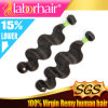 7A Natural brasiliano Body Wave Virgin 100% Human Hair Extension Lbh 077