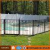 Panneaux enduits de frontière de sécurité de piscine de poudre noire
