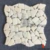 東洋の白い不規則な形の大理石のモザイク