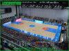 Colore completo che fa pubblicità al tabellone per le affissioni dello stadio LED di pallacanestro