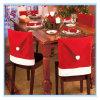 Tampas vermelhas decorativas da cadeira do Natal de Papai Noel para a tabela de jantar