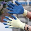 Перчатки ладони латекса Crinkle полиэфира Nmsafety 10g покрытые