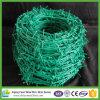 Зеленая колючая проволока высокия уровня безопасности граници PVC Coated для сбывания