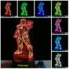 cadeau à la maison acrylique d'enfant de lampe de base de Tableau du Nightlight DEL de la merveille 3D-Illusion d'homme coloré de fer