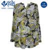 Habillement desserré de femmes de chemisier de dames de Fshion de long bouton multicolore de chemise