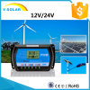 24V/12V 10A DC-0.8A USB-5V 태양 전지판 전압 조정기 Rtd 10A