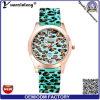 La insignia de encargo de los nuevos del diseño Yxl-179 del silicón del reloj del leopardo de la correa del deporte de los hombres relojes ocasionales de las mujeres mira la fábrica