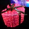 Decorações ao ar livre do feriado da caixa de presente da iluminação do diodo emissor de luz
