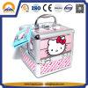 Rectángulo de almacenaje del caso de la belleza del gatito de la manera hola con 4 bandejas para los cabritos (HB-6350)
