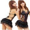 Ropa interior erótica determinada de los trajes de la ropa interior de la alineada del cordón Backless atractivo de la ropa interior