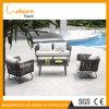 O sofá de vime personalizado do jardim original do projeto ajustou-se com vários coxins